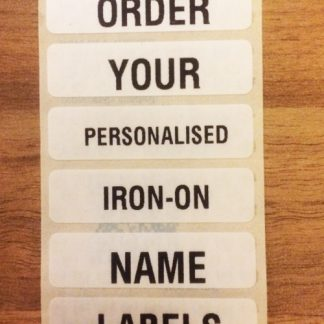 Iron-on Name Tags for School Uniform