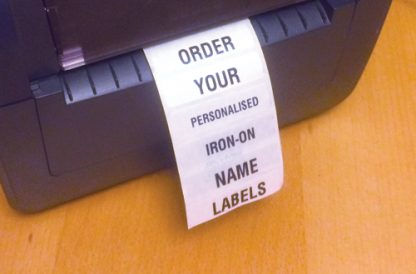 Name tags - iron-on for school uniform