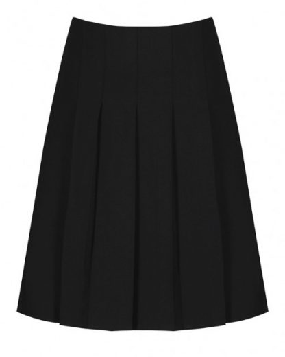plain black pleated skirt