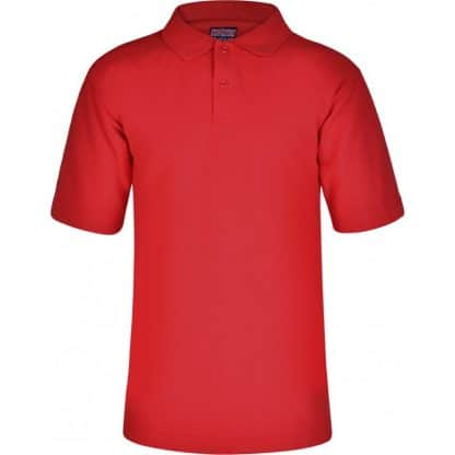 School uniform polo shirt in red