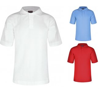 Polo shirts in variety of colours