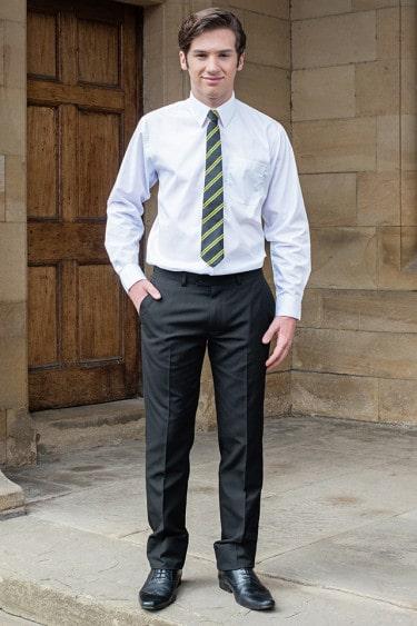 Senior boys tailored school trousers