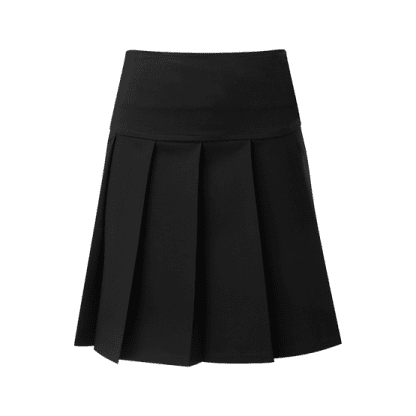 Junior drop waist pleated skirt for school uniform