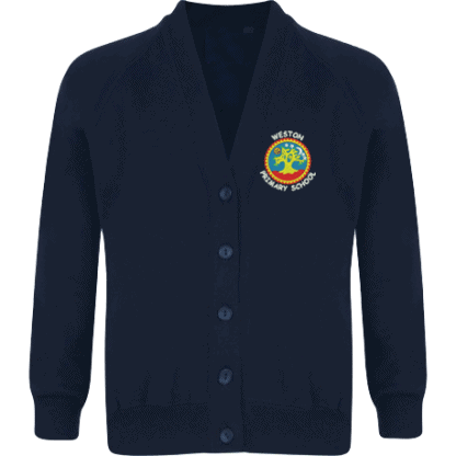 Sweatshirt Cardigan for Weston School