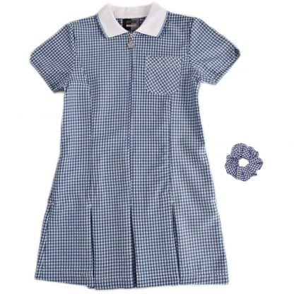 Summer school dress - navy gingham