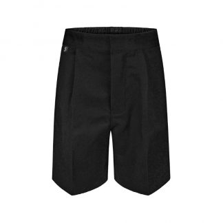 Black school uniform shorts