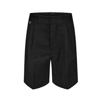 Black school uniform shorts