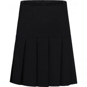 Pleated Skirt (Drop Waist) Black