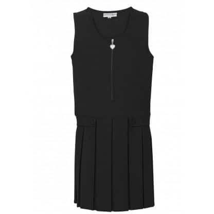 Black school pinafore dress