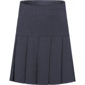 Pleated Skirt (Drop Waist) Grey
