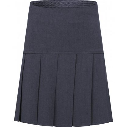 School uniform skirt - drop waist pleat in grey