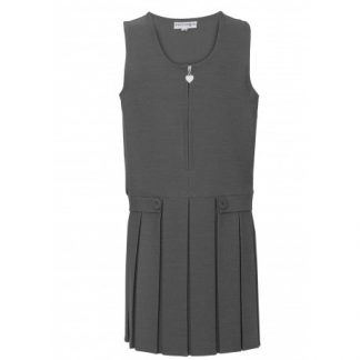 School unioform pinafore dress in grey