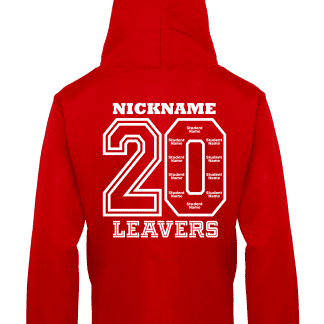 Fire Red Sandon Leavers Hoodie