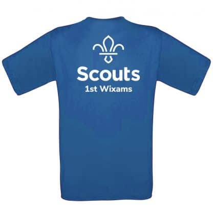 1st Wixams Blue T-Shirt. Printed back.