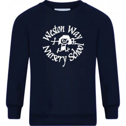 Navy Blue Sweatshirt for Weston Way Nursery School, Baldock, Herts