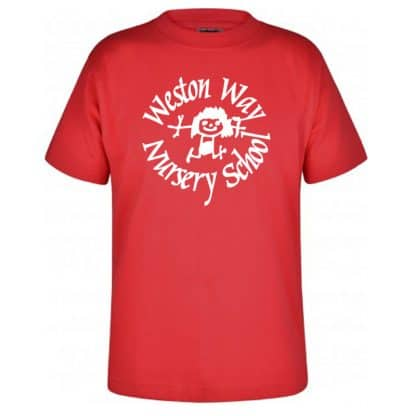 Red T-Shirt for Weston Way Nursery