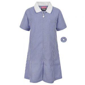 Gingham/Summer Dress – Blue