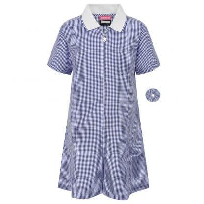 Blue Ginham Summer Dress