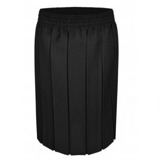 Box Pleat Black School Skirt