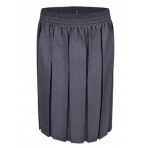 Everyday Box Pleat Skirt – Grey