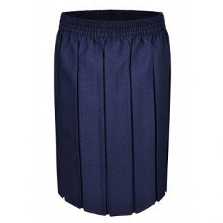 Navy Box Pleat School Skirt